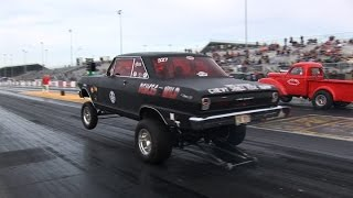 Download Old School Gasser Drag Racing - ADRL Dragstock Video