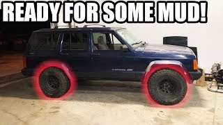 Download NEW WHEELS AND TIRES FOR THE JEEP! Video