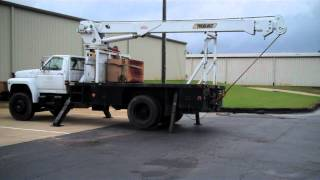 Download 1986 Ford F800 Crane Truck w/ Commander Series 5000 Telelect Crane 2 Video