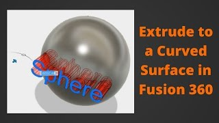 Debossing/Embossing a Logo on a Curved Surface in Fusion 360