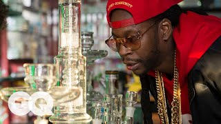 Download 2 Chainz Smokes Out of a $10,000 Bong | Most Expensivest Sh*t | GQ Video