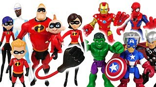 Download Mosters appeared! The Incredibles 2 and Marvel Avengers Hulk, Spider Man! Go! - DuDuPopTOY Video