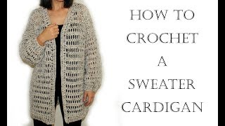 Download Crochet Cardigan/Sweater Video
