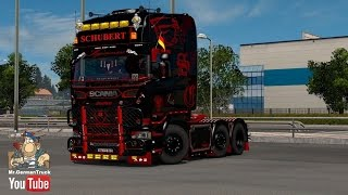 Download [ETS2 v1.25 & v1.26] Scania Andreas Schubert + Cabin & Flag DLC ready Video