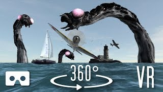 Download VR 360 3D video: Sea Monsters. Virtual Reality Scary Videos for Oculus Go, VR Box, Samsung Gear VR Video