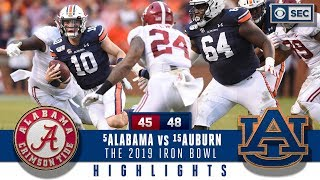 Download #5 Alabama vs #15 Auburn Highlights: Bama suffers HUGE loss in a wild 2019 Iron Bowl | CBS Sports Video