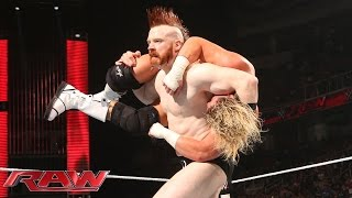 Download Sheamus returns with a surprise assault on Dolph Ziggler and Daniel Bryan: Raw, March 30, 2015 Video