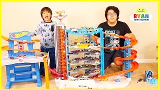 Download Ryan's Biggest Hot Wheels Collection Playset and Super Ultimate Garage Cars!!! Video