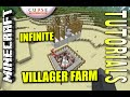 Download Minecraft - INFINITE VILLAGER FARM - Tutorial ( PS4 / MCPE / XBOX / PS3 / XBOX ) Video