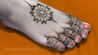 Easy Feet Mehndi Designs : Beautiful easy feet mehndi henna designsmatroj designs