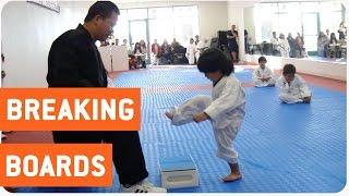 Download Little Boy Trying to Break Board in Taekwondo | The New Karate Kid Video