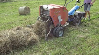 Download BCS Model 853 walk-behind tractor with CAEB mini-haybaler Video