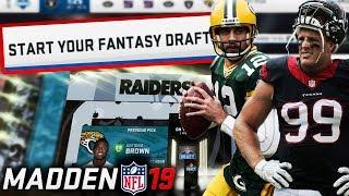 Download Madden 19 Fantasy Draft! Madden 19 Connected Franchise Draft Video