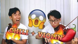 Download Hot Chili Violin Challenge (and other painful foods) Video