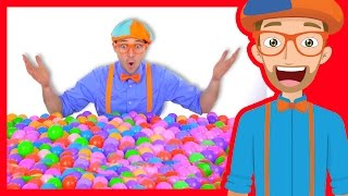 Download Learn Colors of Machines with Blippi | Colorful Balls Video