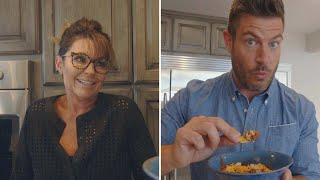 Download Watch ″Daily Mail TV″ Host Jesse Palmer Try MOOSE Chili With Sarah Palin In Alaska Video