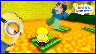 Download Despicable Me 3 Minion Game! Oh No Floor is Lava! Let's Play Roblox with Ryan's Family Review Video