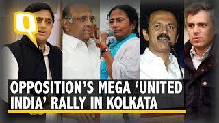 Download Live: Opposition Leaders Address Mega Rally in Kolkata Video