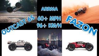 Download A LOOK AT ARRMA'S OUTCAST 6S & ARRMA'S FAZON 60+ MPH RC TRUCKS Video