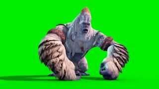 Download Green Screen Monster Yeti Bigfoot Walk Attack Die - Footage PixelBoom Video