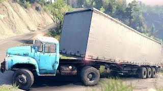 Download SPINTIRES 2014 - Truck + Trailer Uphill Driving Fail Part 2 Video