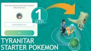 Download Level 1 account new starter pokemon go! catching tyranitar and dragonite! Video