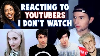 Download REACTING TO YOUTUBERS I DON'T WATCH Video