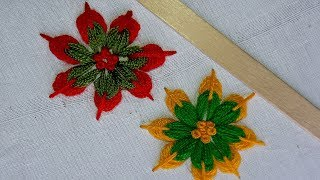 Download Hand Embroidery:Making Unique Flower With Ice cream Stick /Amazing New Tricks#Sewing Hack Idea Video