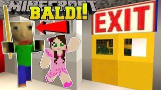 Download Minecraft: ESCAPE BALDI'S SCHOOL!!! (BALDI'S BASICS!) Mini-Game Video