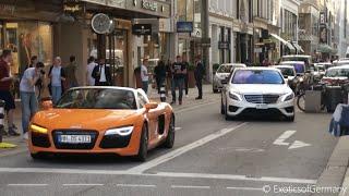 Download Supercars in Hamburg Summer 2015 - Aventador, C63 BS, AMG GT, R8 Video