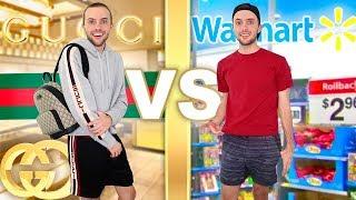 Download I Wear GUCCI vs WALMART For A Week! Video