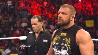 Download Shawn Michaels predicts Triple H will defeat Brock Lesnar at WrestleMania: Raw, April 1, 2013 Video