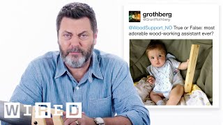Download Nick Offerman Answers Woodworking Questions From Twitter | Tech Support | WIRED Video