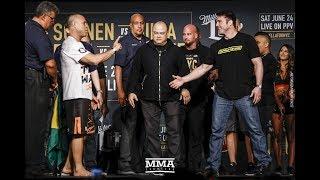 Download Bellator NYC Weigh-ins: Chael Sonnen vs. Wanderlei Silva Staredown - MMA Fighting Video