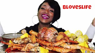 Download Seafood Boil 12 ⚠ Messy Eating, Smacking, King Crab Legs, Lobster, Jumbo Fried Shrimp Video