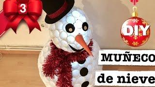 Download MUÑECO DE NIEVE CON VASOS DE PLÁSTICO   DECORACION ECONOMICA Video