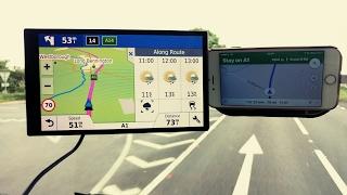 Download Garmin 61 vs Iphone 6 google maps satnav Video