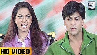 Download Juhi Chawla's FIRST Reaction To Seeing Shah Rukh Khan   Lehren Diaries Video