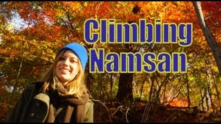 Download Hiking up Namsan Mountain to reach Seoul Tower on a gorgeous fall afternoon Video