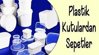 Download Plastik Kutulardan Dekoratif Sepetler   Decorative Baskets Out Of Plastic Boxes Video