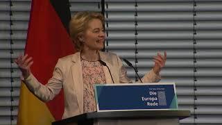 Download President-elect Ursula VON DER LEYEN addresses the 'State of Europe' in Berlin Video