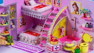 Download DIY Miniature Dollhouse Bathroom and Bedroom ~ Belle (Beauty and the Beast) Room Decor , shoes #45 Video