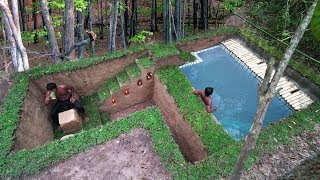 Download Building Secret Ancient Underground House And Impressive Swimming Pool Video