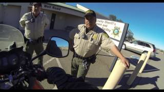 Download Issuing Trespass Warning to Pima County Sheriff's Officers, Well Road, Ajo, AZ, 30 Nov 16, GP031640 Video