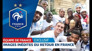Download Images exclusives du retour des Bleus Video
