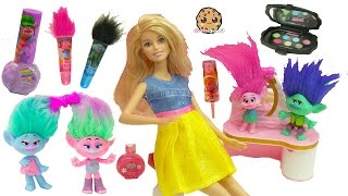 Download Trolls Poppy, Branch, Satin and Chenille Give Barbie & Shopkins Makeovers Video