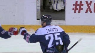 Download Danis Zaripov nets hat trick against Barys Video
