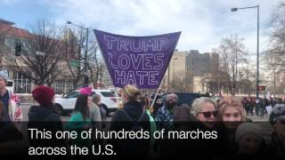 Download Closer look at Women's March on Denver Video