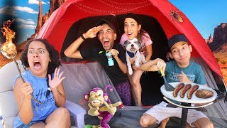Download 24 Hours OVERNIGHT Camping in a Tent (107° Outside!) Video