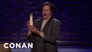 Download Ron Burgundy's Prop Comedy Routine - CONAN on TBS Video